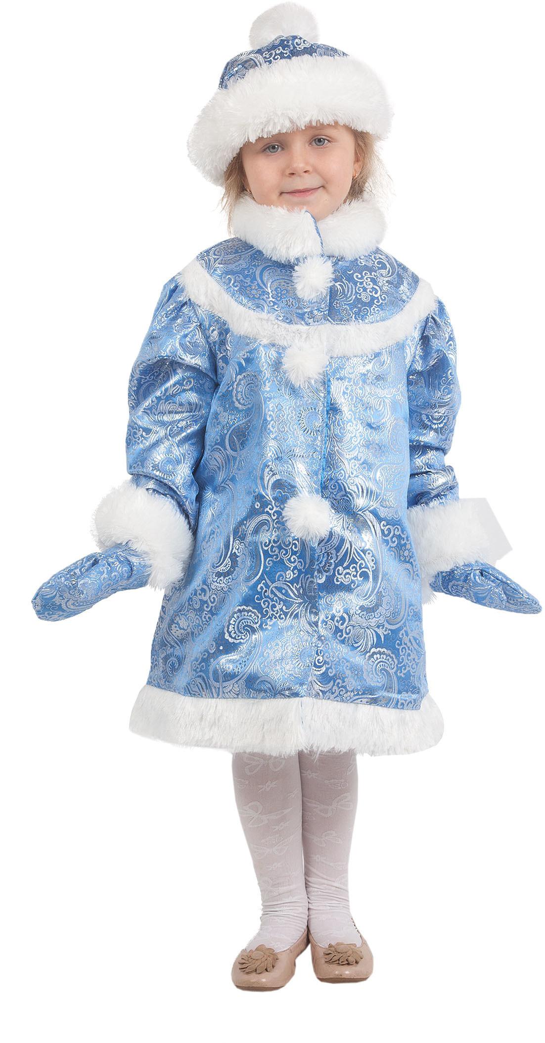 Купить Vm524, Костюм Волшебный мир Снегурочка Детский 116-122 см,