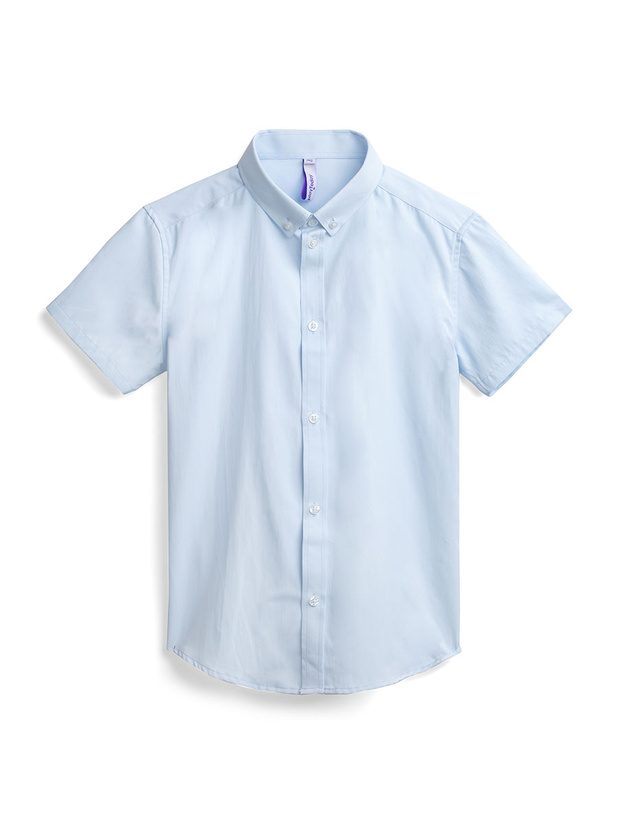 Рубашка PlayToday 393427_голубой р.128