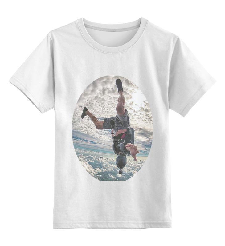 Купить 0000000752142, Детская футболка Printio Touch the sky цв.белый р.164,