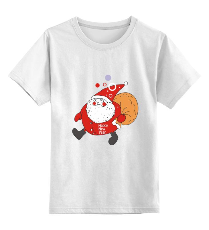 Купить 0000000751569, Детская футболка Printio Happy new year! цв.белый р.164,