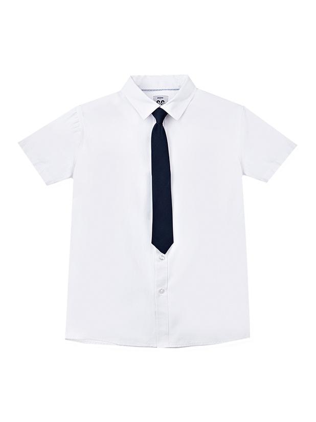Рубашка PlayToday 22011023_белый, темно-синий р.152 Play Today 22011023