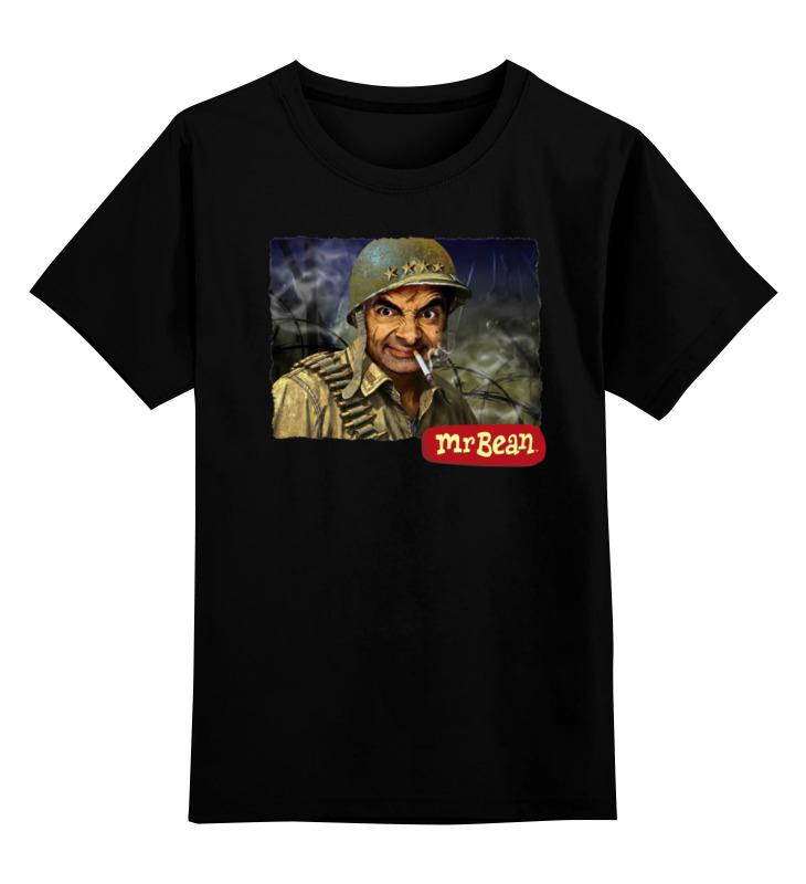 Купить 0000000755019, Детская футболка Printio Mr.bean цв.черный р.104,