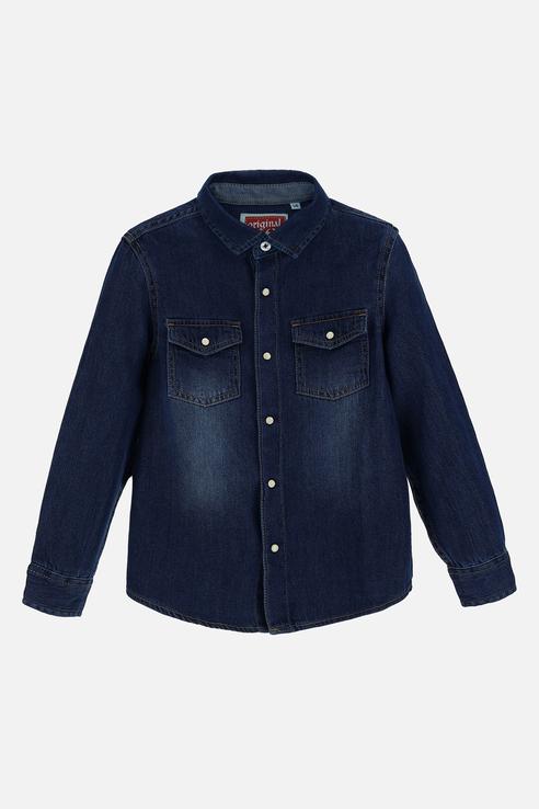 Купить AZA2700B1, Рубашка детская Original Marines цв. синий р.128,