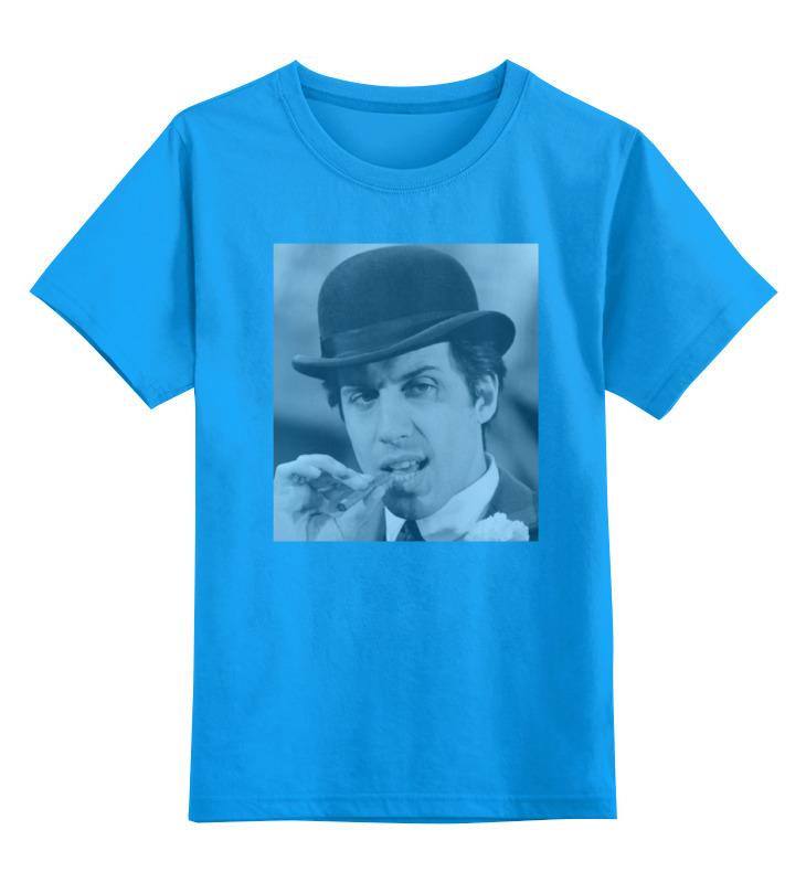 Купить 0000000764829, Детская футболка Printio Celentano цв.голубой р.116,