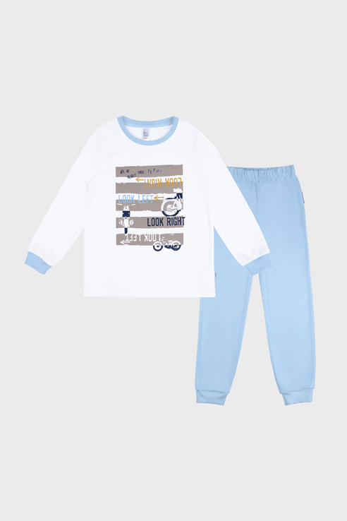 Купить 356К-161-Б, Пижама детская Bossa Nova цв. голубой р.134,