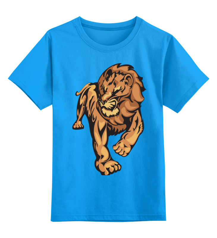 Купить 0000000759715, Детская футболка Printio The lion king цв.голубой р.116,