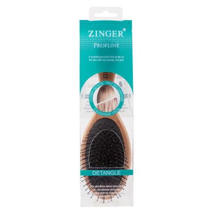 Купить Расческа массажная Zinger, деревянная, с нейлоновыми штифтами, в упаковке