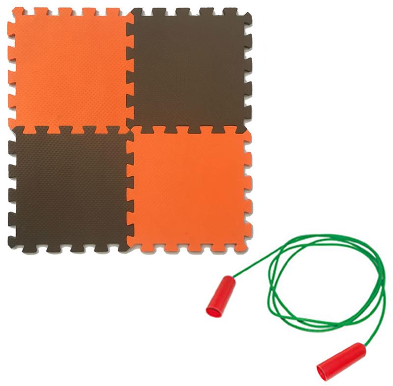 Мягкий пол универсальный Экопромторг оранжево коричневый 25x25
