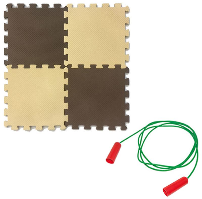 Мягкий пол универсальный Экопромторг бежево коричневый 25x25