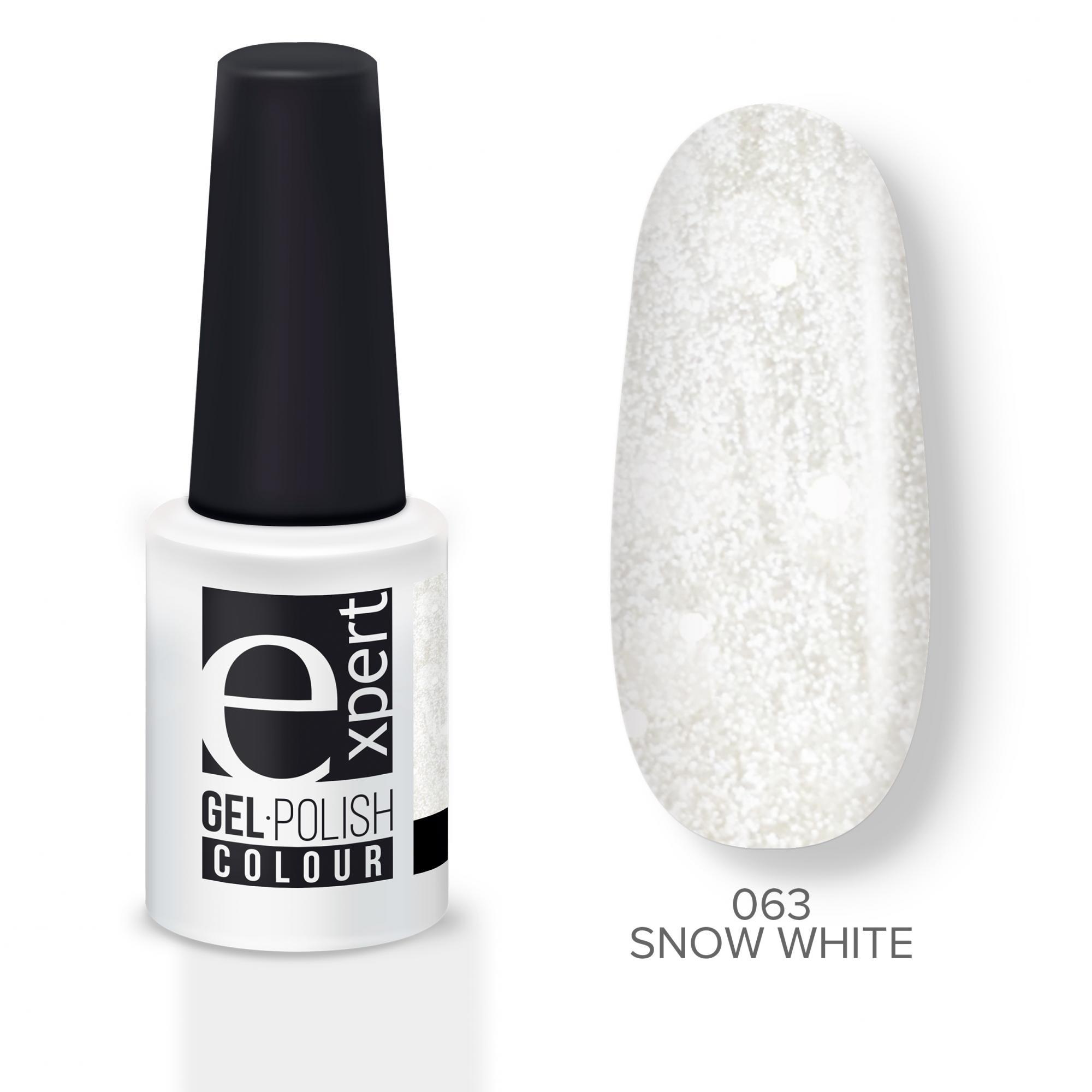 Купить Гель-лак Expert белый глиммер Snow White 063 EXPERT, 5мл