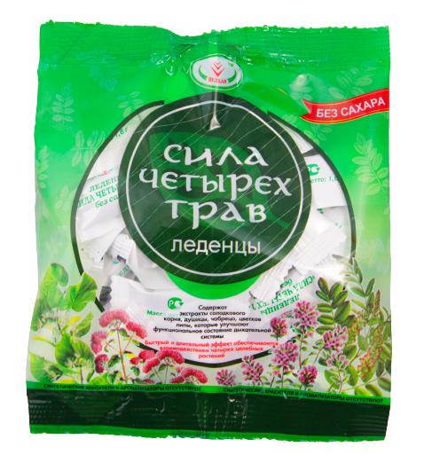 Купить Леденцы сила четырех трав Вулкан без сахара 30 г