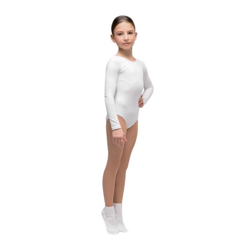 Купальник гимнастический детский Корри Г 93-301 белый р.122