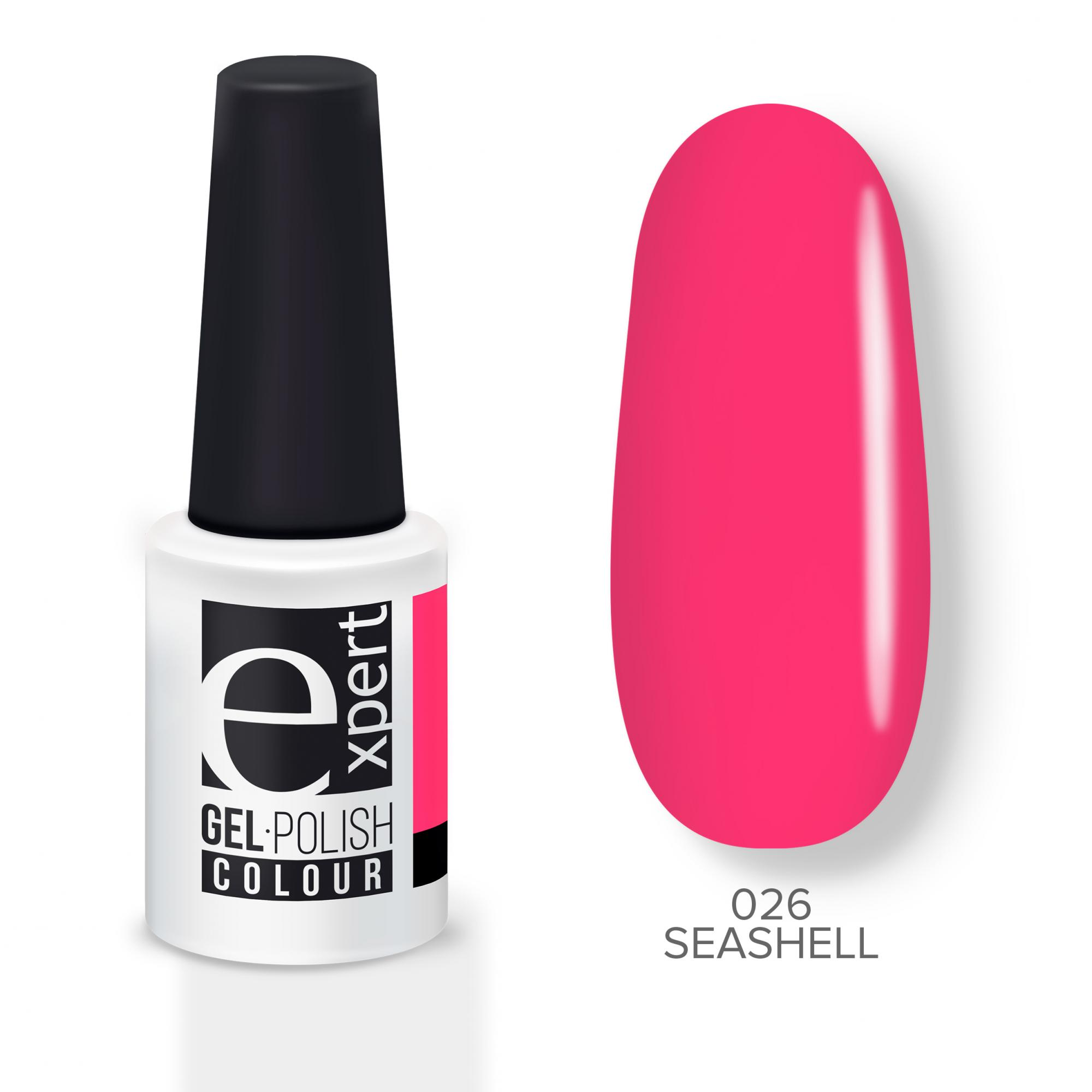 Купить Гель-лак Expert розовый неон Seashell 026 EXPERT, 5мл
