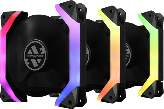 Комплект RGB вентиляторов Abkoncore Spider Spectrum