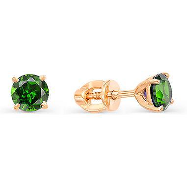 Серьги женские из золота Magic Stones 05-1-012-1900-010, турмалин