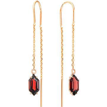 Серьги женские из золота Magic Stones 02-2-258-0300-010, гранат