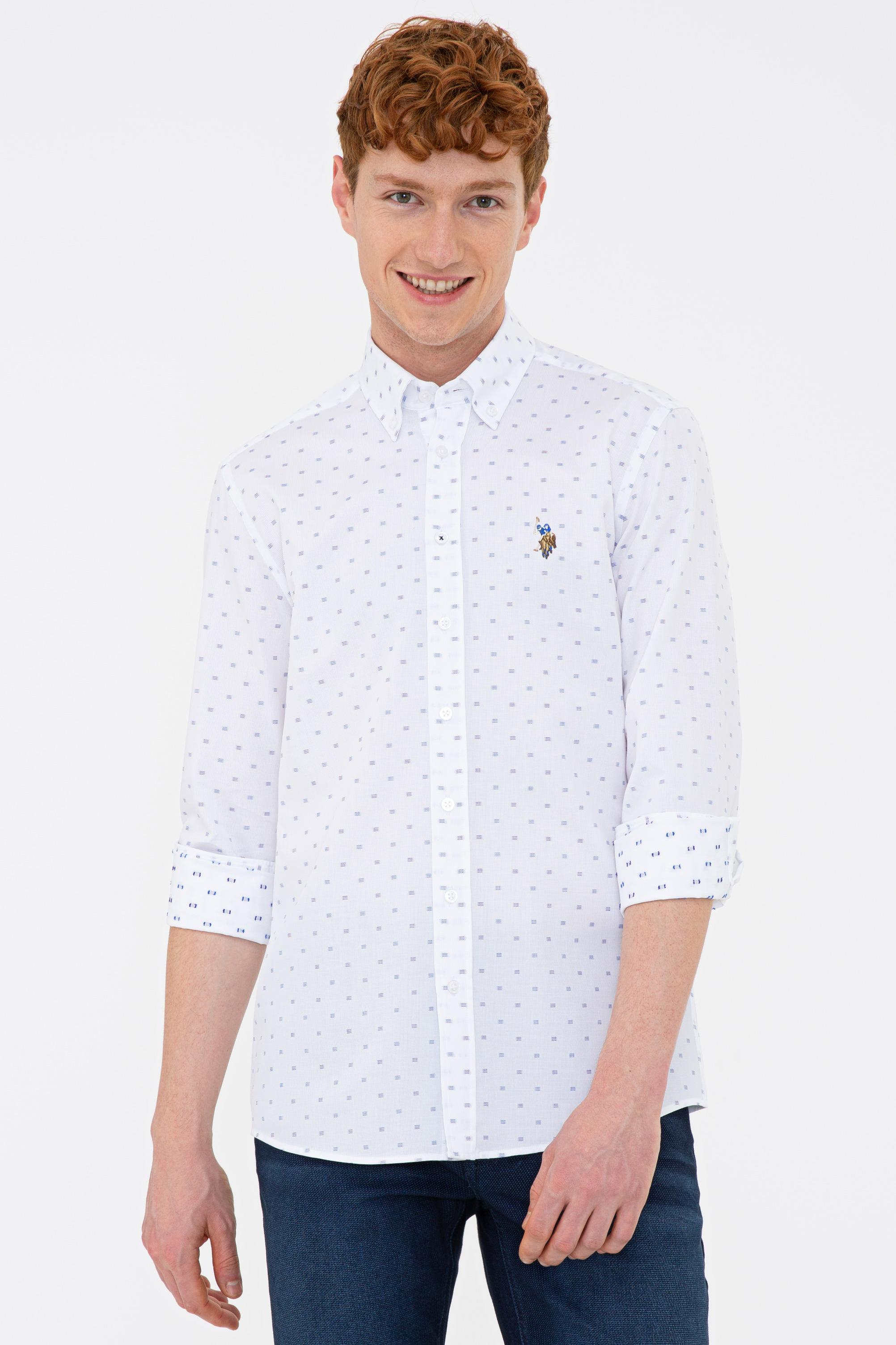 Рубашка мужская U.S. POLO Assn. G081GL0040ORTEGO белая 2XL