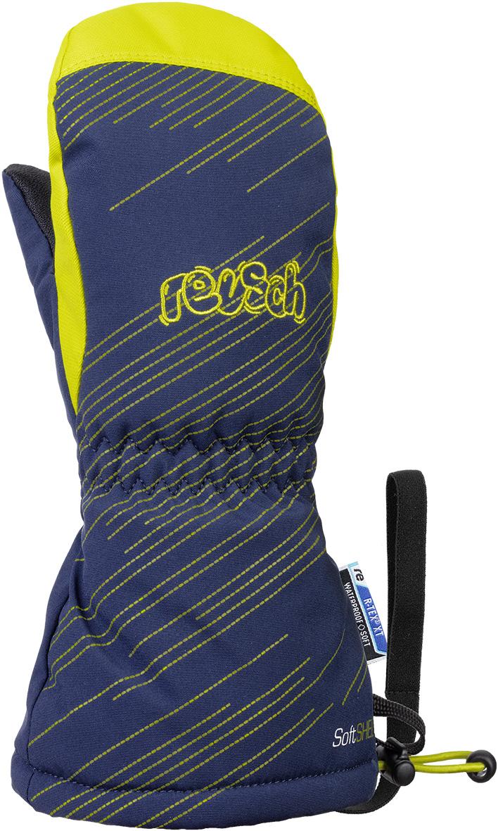 Варежки Reusch 2020-21 Maxi R-Tex® Xt Mitten Dress Blue/Lime (Inch (Дюйм):Iii)