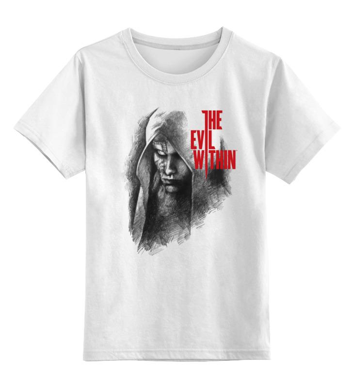 Купить 0000000756466, Детская футболка Printio The evil within цв.белый р.116,