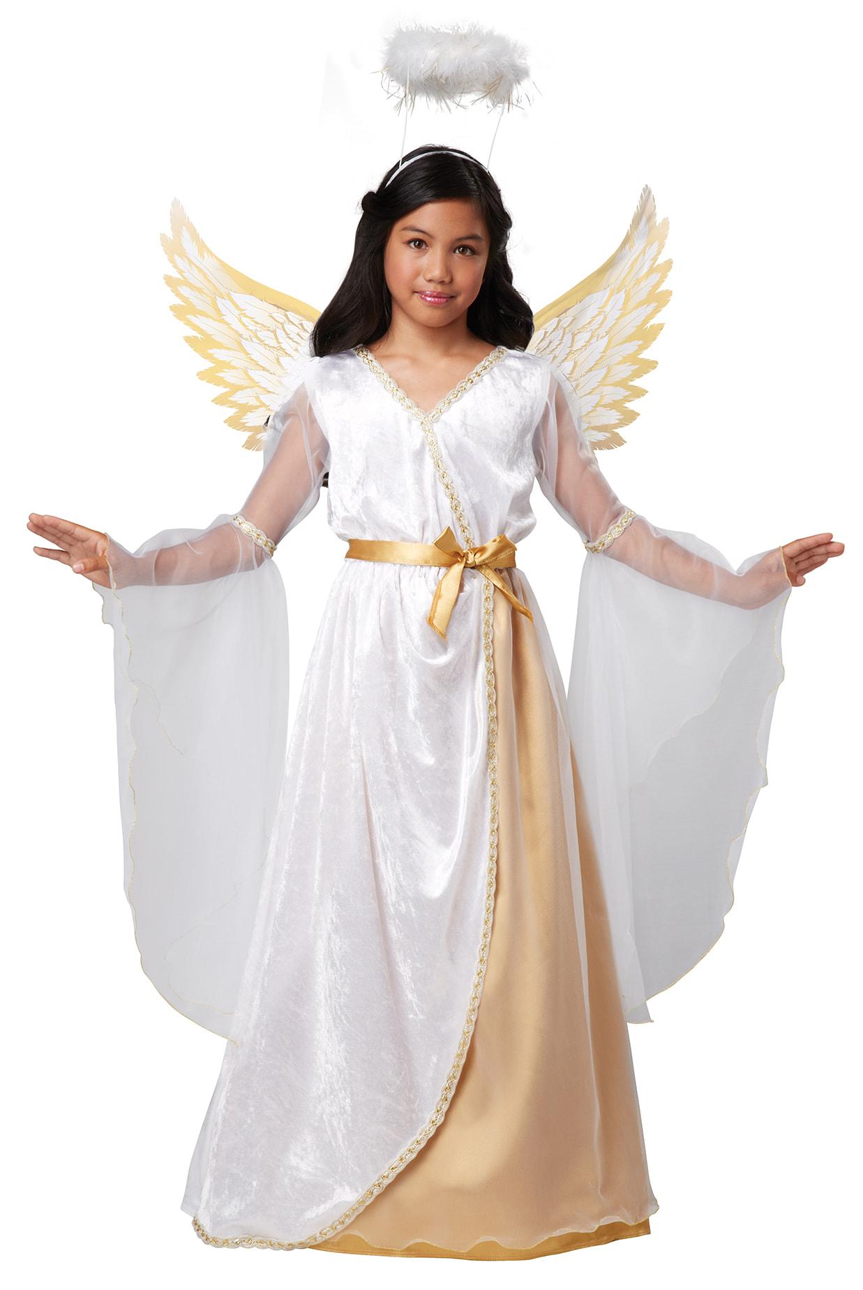 Купить K00443, Костюм California Costumes Золотистый Ангел Детский M (8-10 лет),