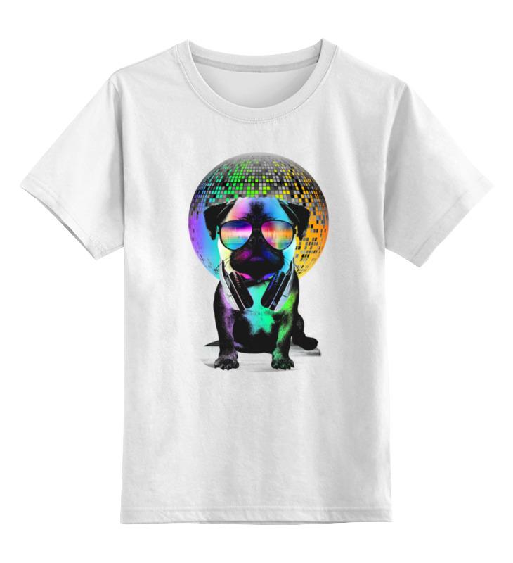 Детская футболка Printio Диджей мопс цв.белый р.116 0000000754253 по цене 790