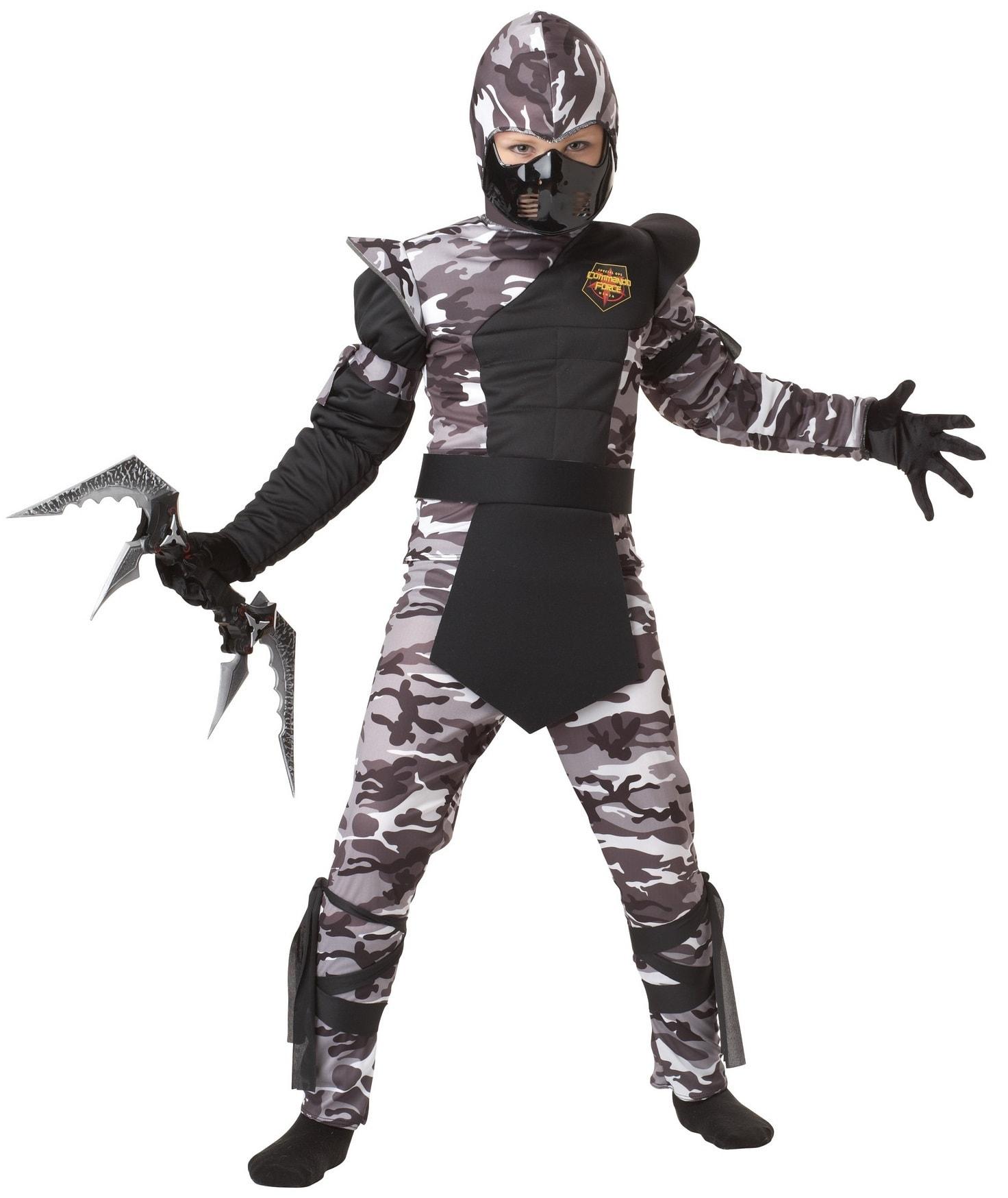Купить K00341, Костюм California Costumes Арктический Ниндзя Детский M (8-10 лет),
