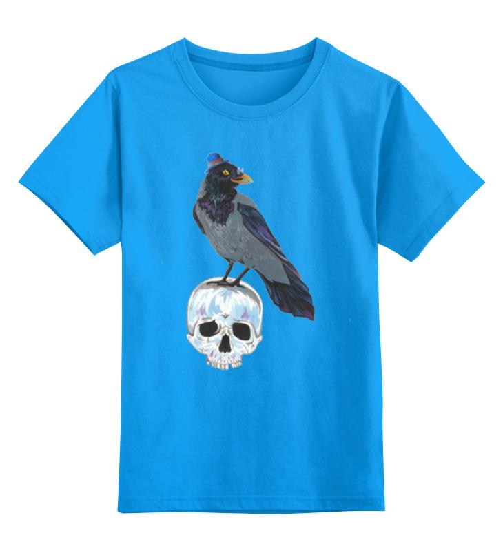 Купить 0000000752288, Детская футболка Printio Гамлет цв.голубой р.116,