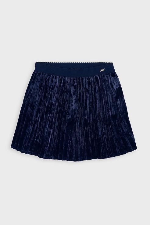 Плюшевая юбка-плиссе Mayoral 4955 цв.синий р.122 4955/_синий