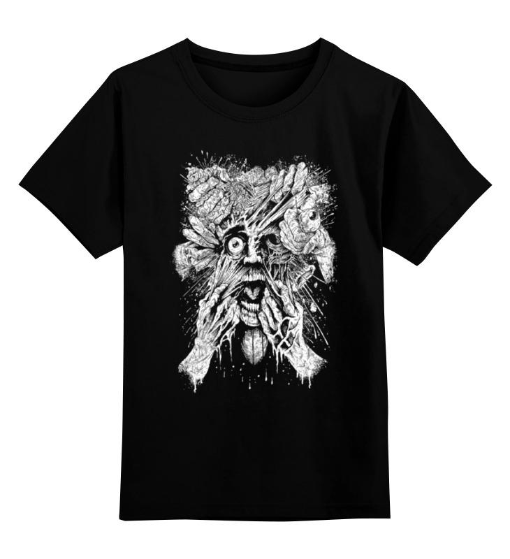 0000000764495, Детская футболка Printio Art horror цв.черный р.128,  - купить со скидкой