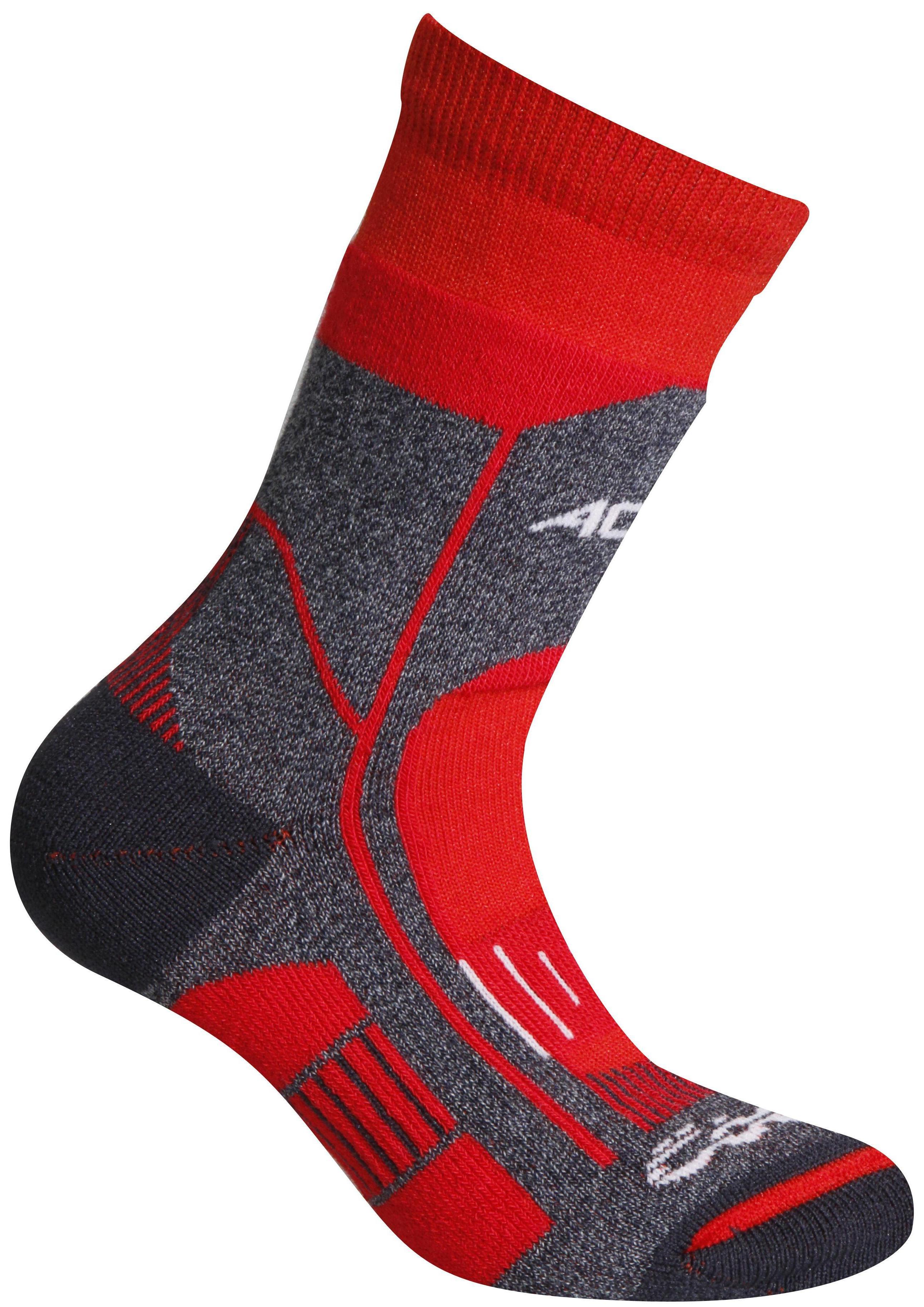 Носки Accapi Socks Trekking Ultralight Jr, black/red, 23-26 EU