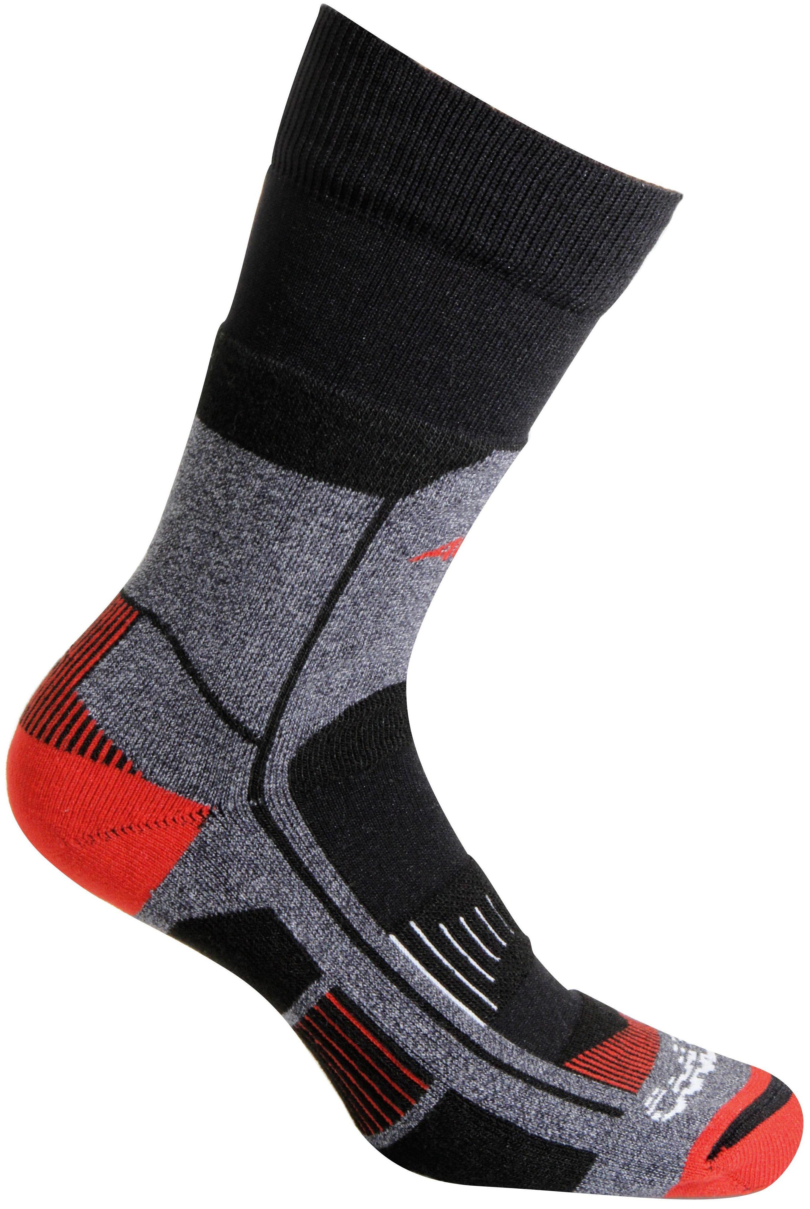 Носки Accapi Socks Trekking Ultralight - Short, black/red, 42-44 EU
