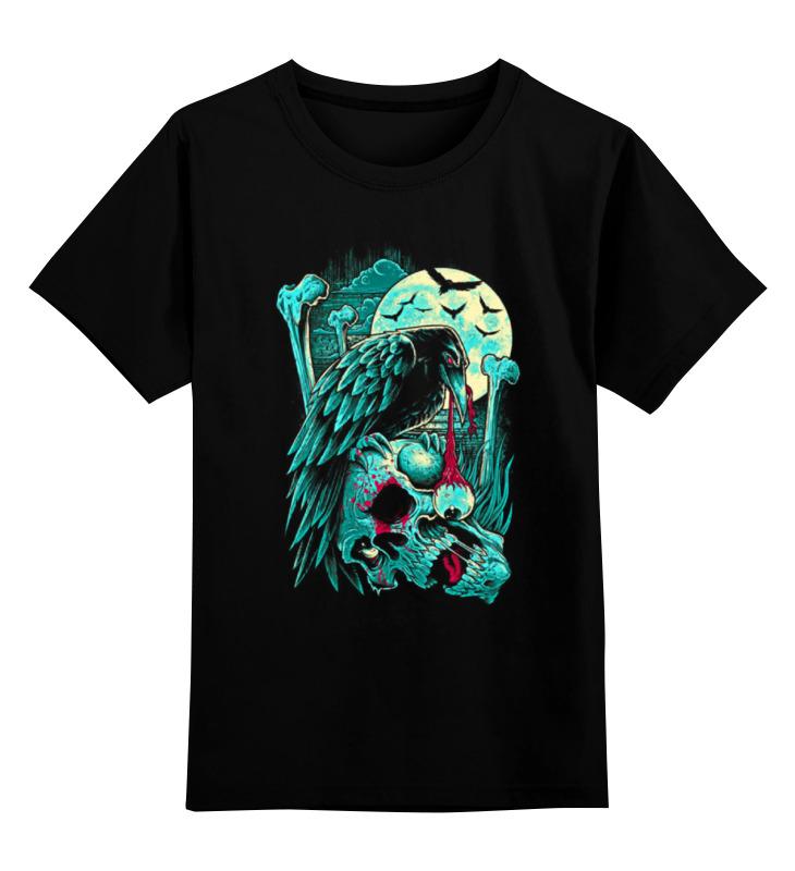 Купить 0000000758494, Детская футболка Printio Art horror цв.черный р.128,
