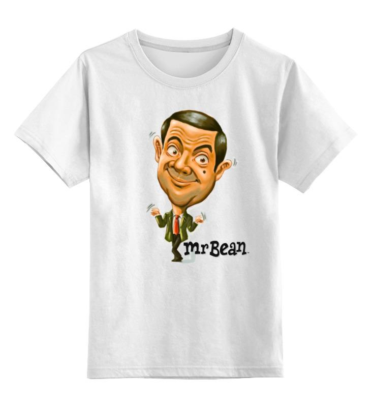 Детская футболка Printio Mr.bean цв.белый р.128 0000000754796 по цене 790