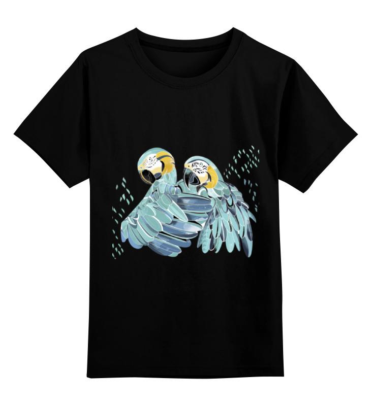 Детская футболка Printio Влюбленные попугайчики цв.черный р.128 0000000753614 по цене 990