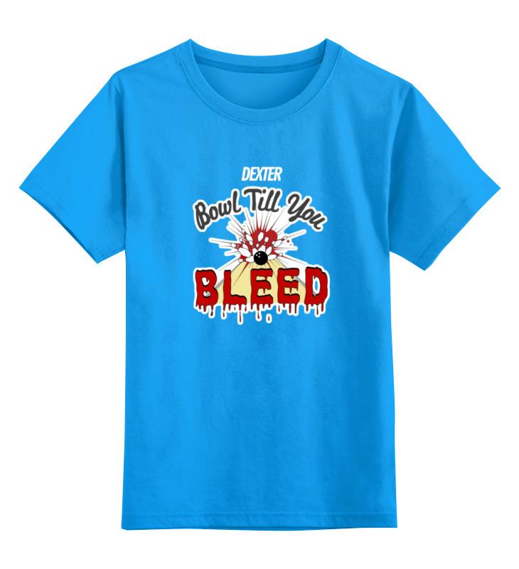 Купить 0000000752365, Детская футболка Printio Dexter цв.голубой р.128,