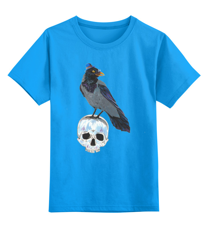 Детская футболка Printio Гамлет цв.голубой р.128 0000000752288 по цене 990