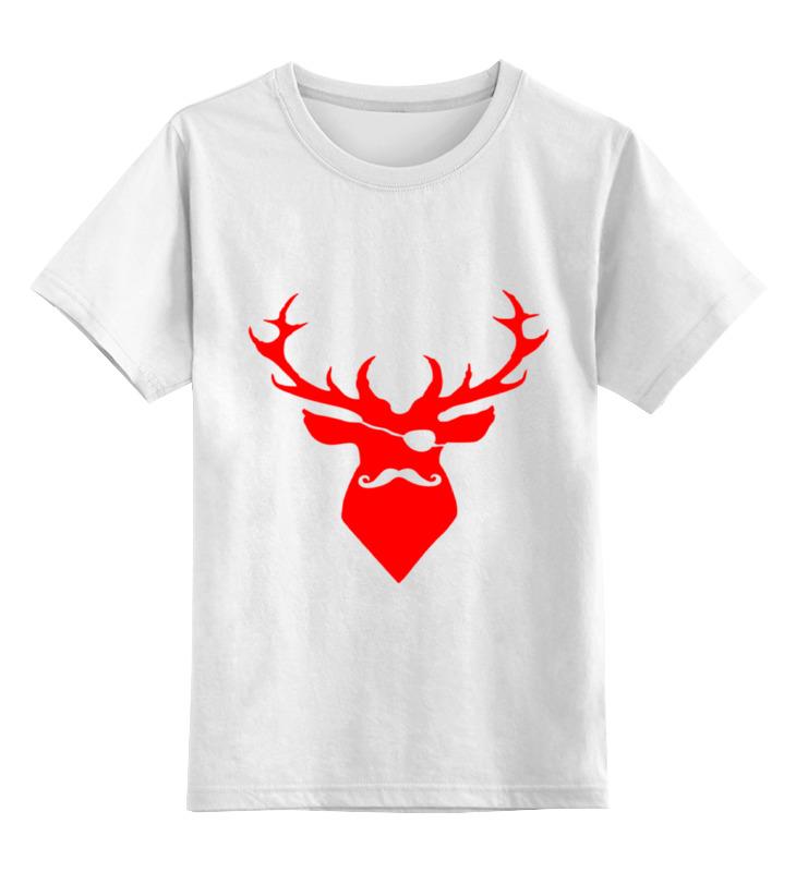 Купить 0000000751681, Детская футболка Printio Ho ho ho... цв.белый р.128,