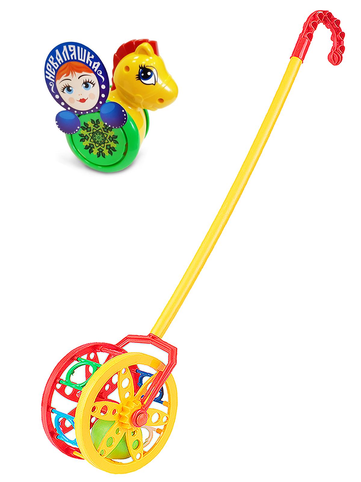 Купить Развивающие игрушки Биплант Каталка-неваляшка Конь №1+ Каталка Колесо,