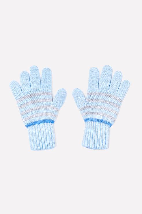Купить К 148/ш/голубой, темно-голубой, Перчатки детские CROCKID цв. голубой р.12,