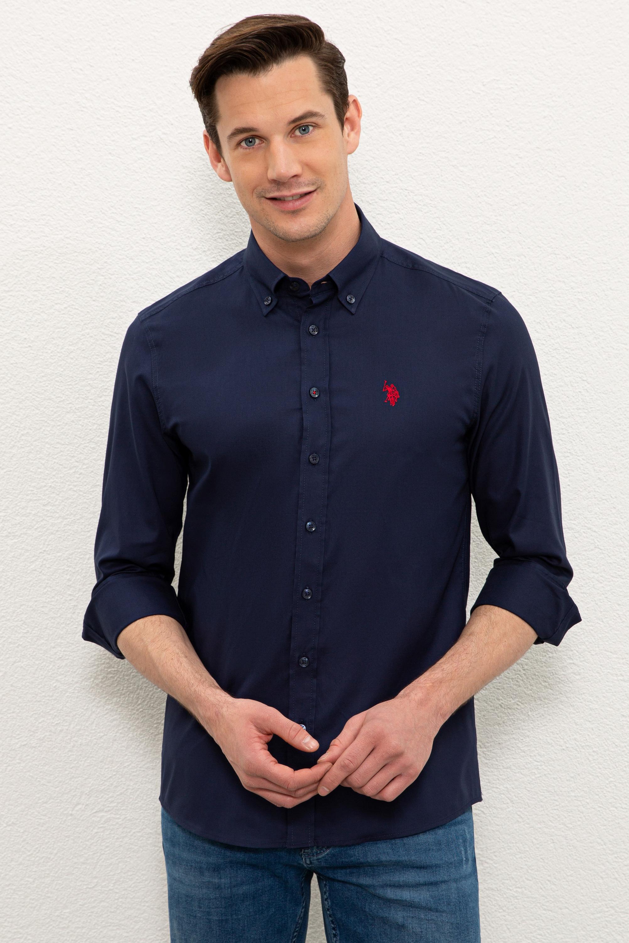 Рубашка мужская U.S. POLO Assn. G081SZ0040CEDRO021Y синяя M