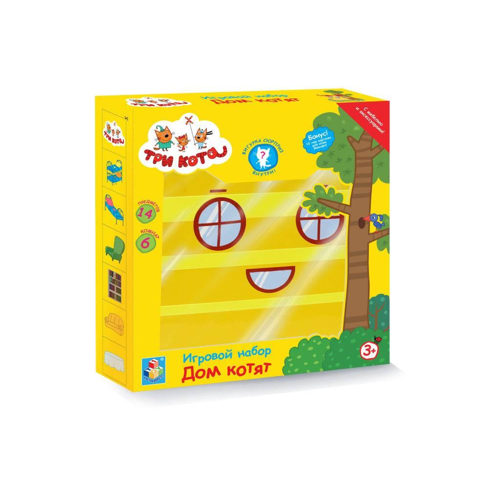 Игровой набор 1 TOY Три кота Дом Котят с мебелью и секретной фигуркой внутри