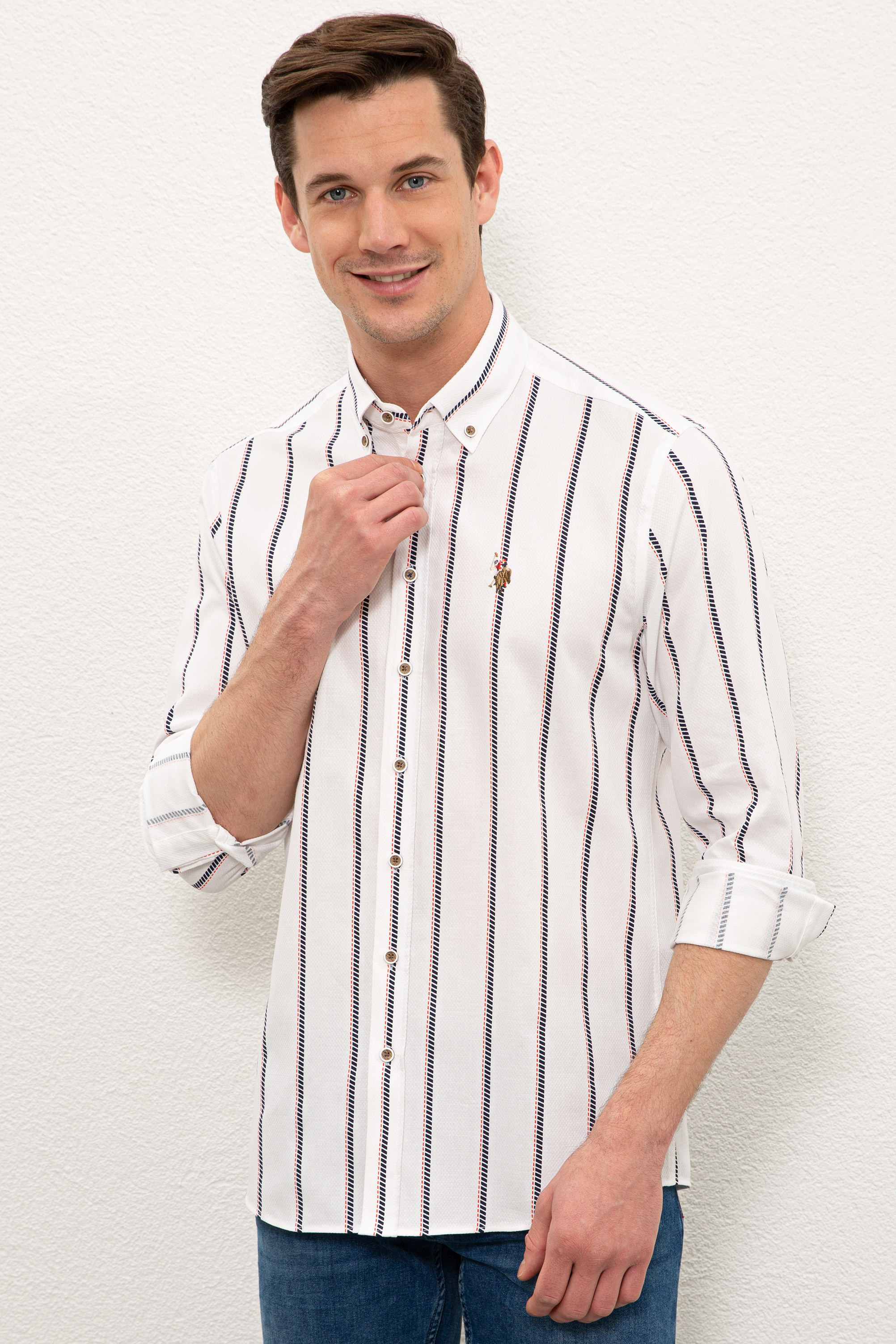 Рубашка мужская U.S. POLO Assn. G081SZ0040CEBAS белая XL