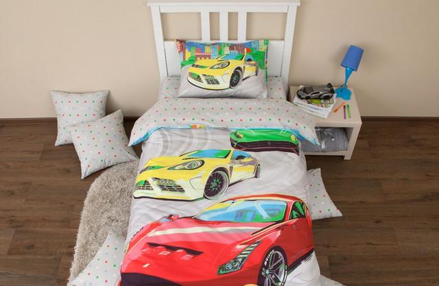 Купить Комплект постельного белья Хлопковый край Тачки 1, 5 спальный, Хлопковый Край,