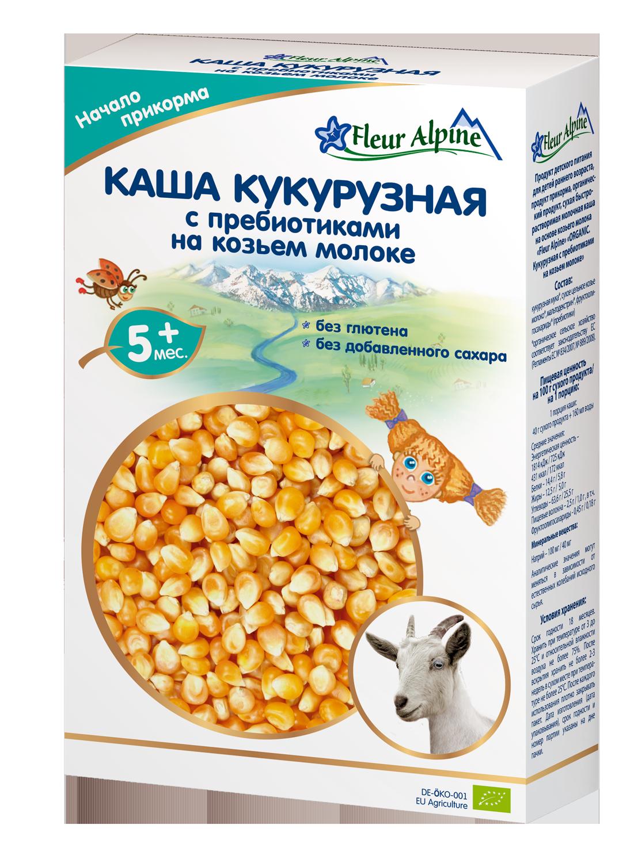 Купить Каша молочная Fleur Alpine Кукурузная с пребиотиками на козьем молоке с 5 мес. 200 г,