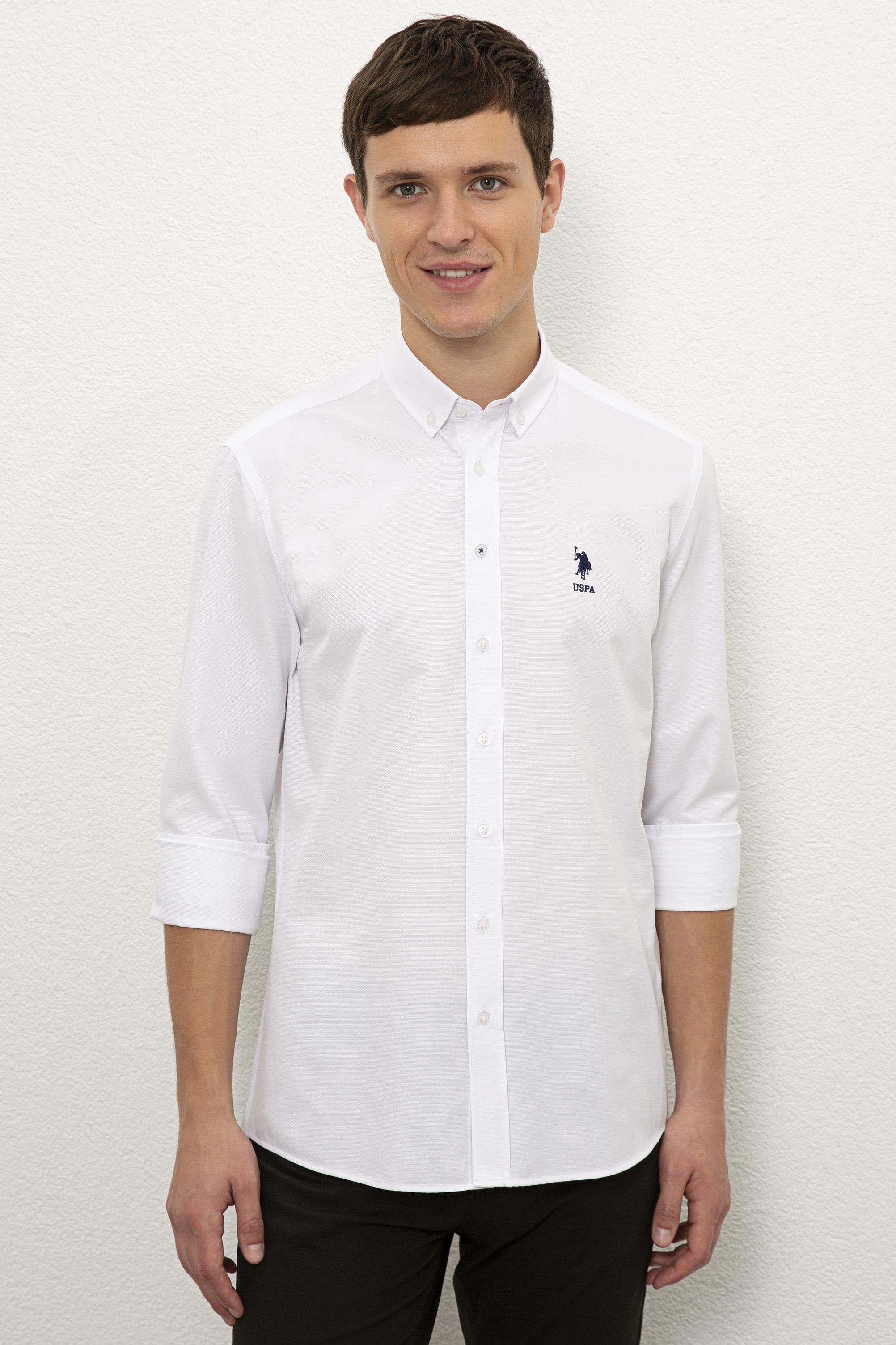 Рубашка мужская U.S. POLO Assn. G081GL0040NOVA020K белая 2XL