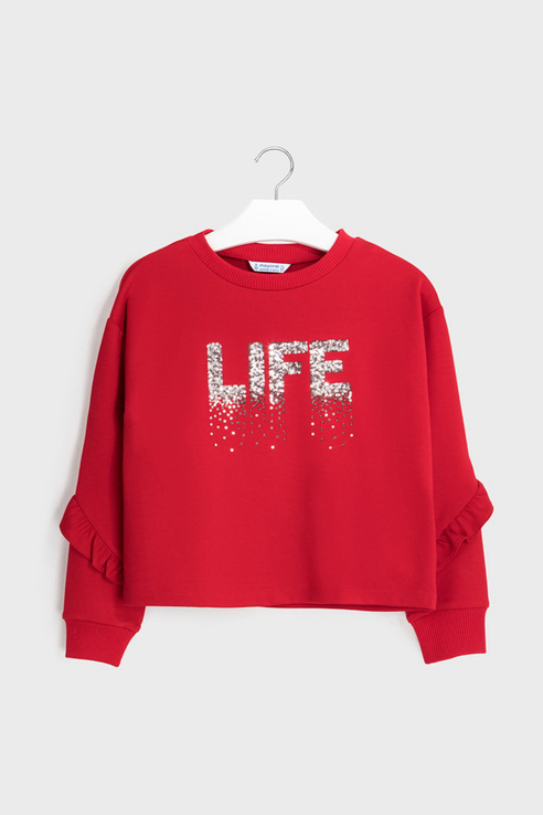 Пуловер Mayoral 7402 цв.красный р.152