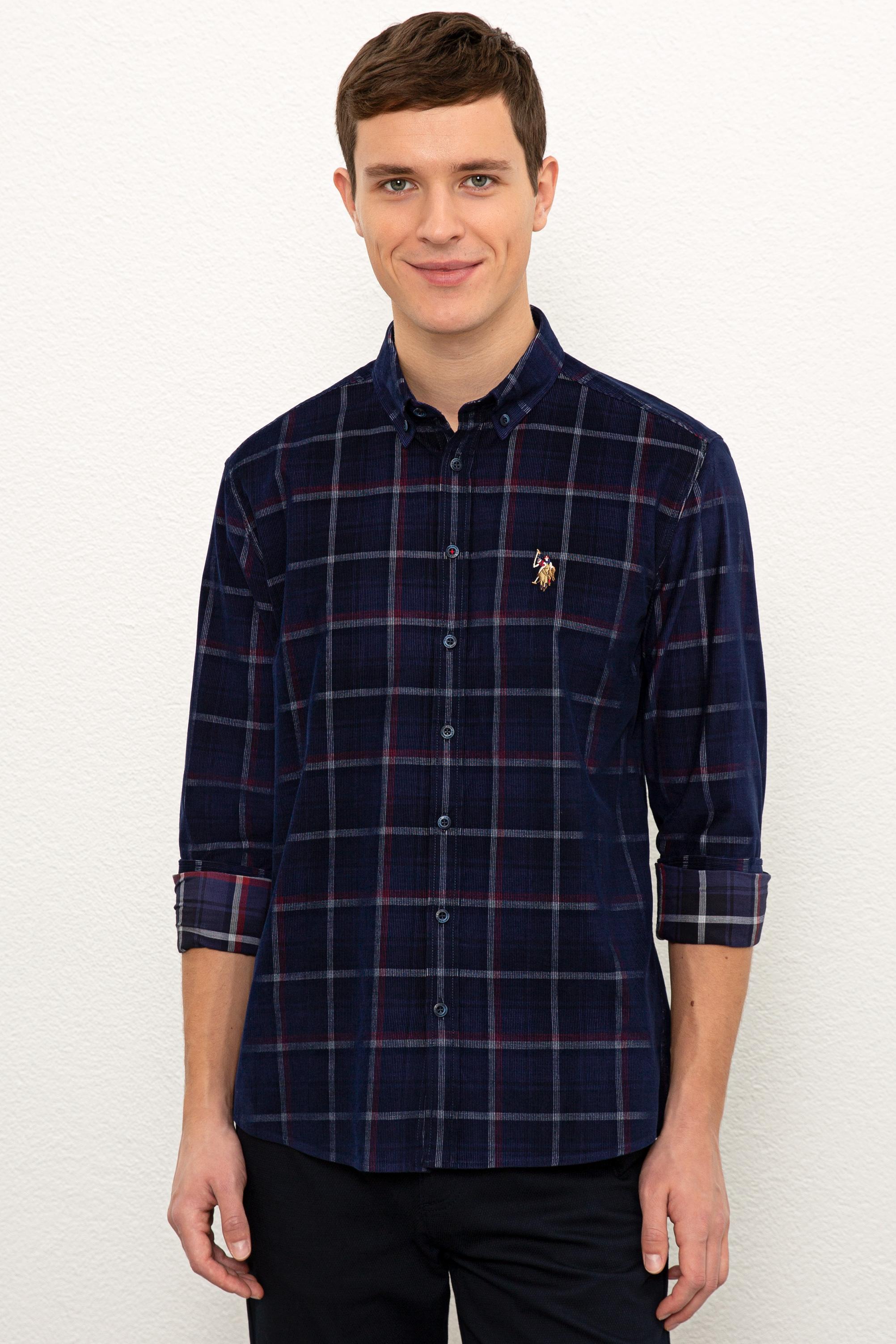 Рубашка мужская U.S. POLO Assn. G081SZ0040ABRAL синяя S