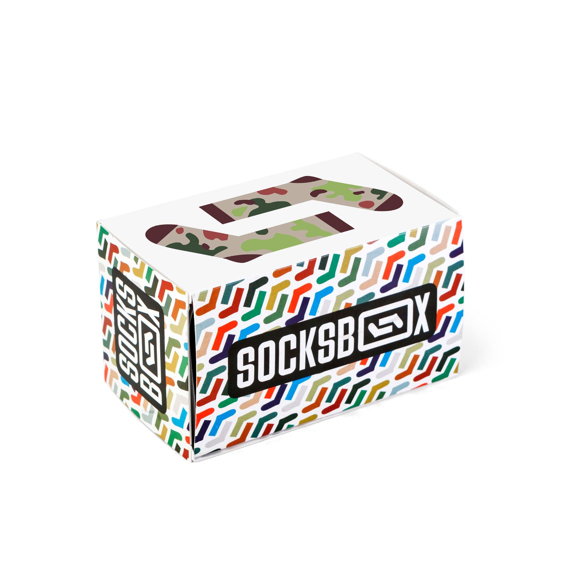 Носки унисекс Socks Box СоксБокс Камо Грин разноцветные 41-43
