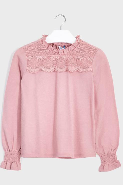 Блузка из тонкого хлопка Mayoral 7069 цв.розовый р.152 7069/_розовый