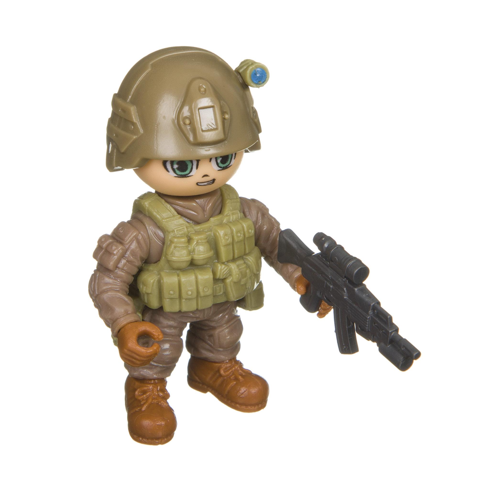Разборный солдатик с оружием Боец Спецназ Bondibon